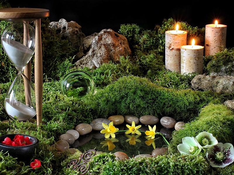Пазл Собирать пазлы онлайн - Натюрморт со свечами