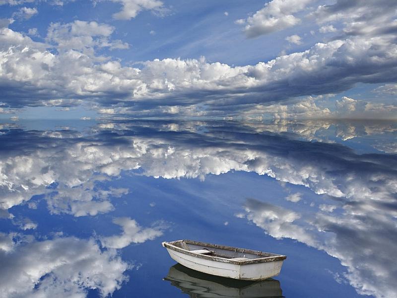 Пазл Собирать пазлы онлайн - Небесная лодка