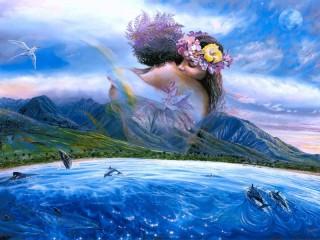 Собирать пазл Небесный поцелуй онлайн