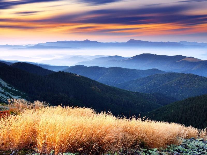 Пазл Собирать пазлы онлайн - Небо и горы