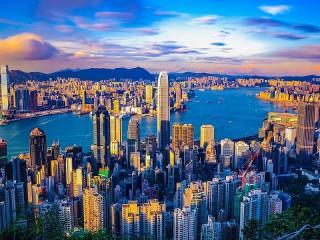 Собирать пазл Небо над Гонконгом онлайн