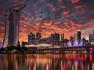 Собирать пазл Небо Сингапура онлайн