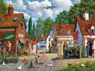 Собирать пазл Небольшой городок онлайн
