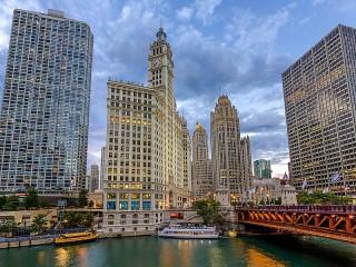 Собирать пазл Небоскребы Чикаго онлайн