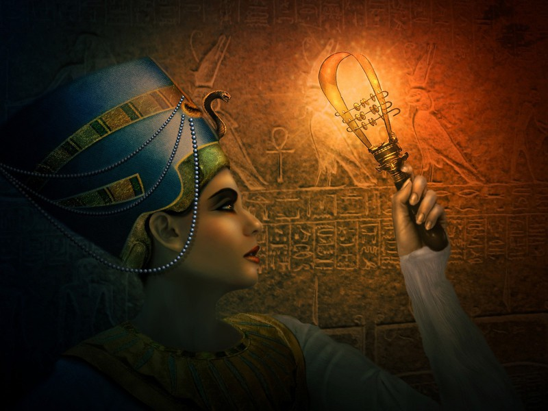 Пазл Собирать пазлы онлайн - Нефертити