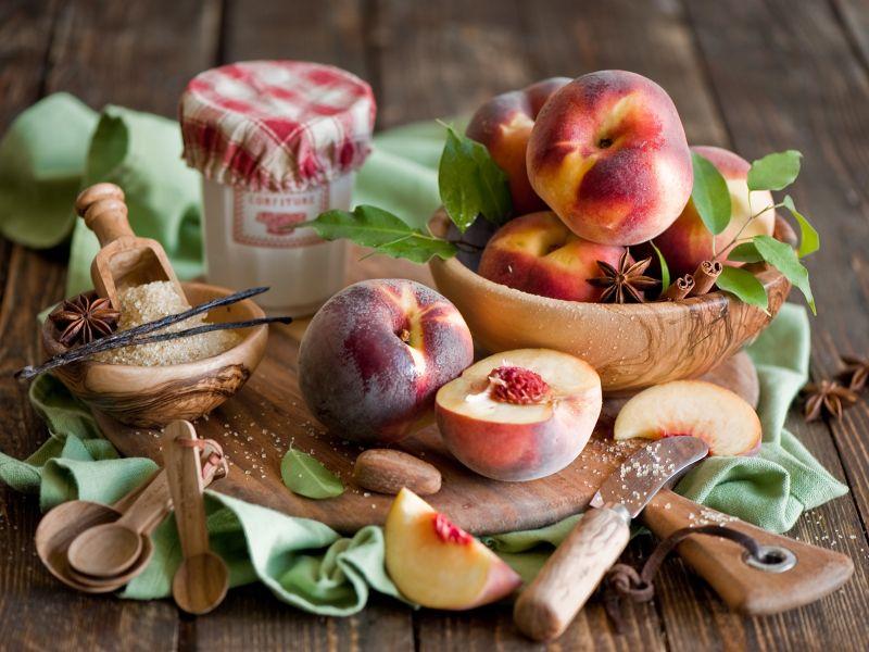 Пазл Собирать пазлы онлайн - Персики и корица