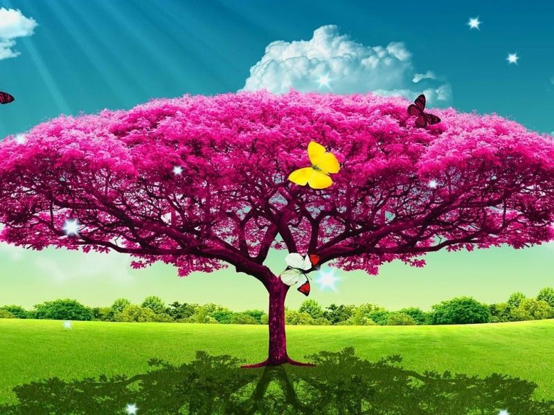 Пазл Собирать пазлы онлайн - Необычное дерево