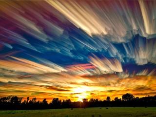 Собирать пазл Нереальные небеса онлайн