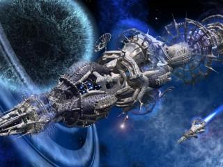 Собирать пазл Нереальный космос  онлайн
