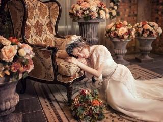 Собирать пазл Невеста устала онлайн