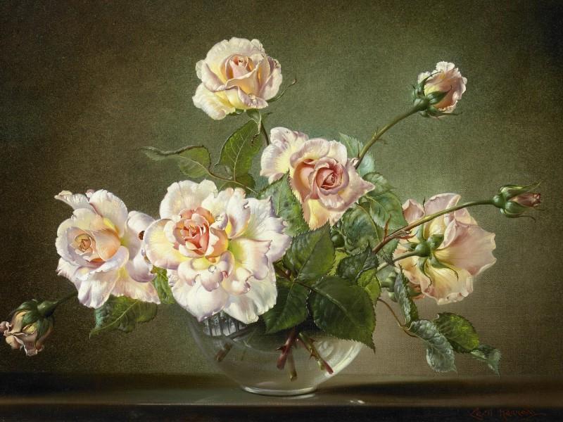 Пазл Собирать пазлы онлайн - Нежные розы