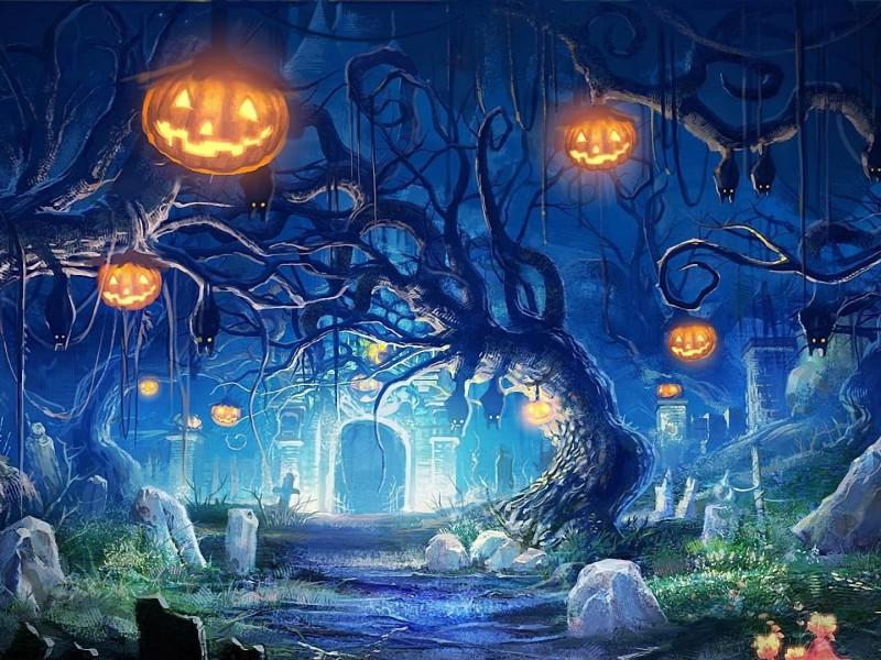 Пазл Собирать пазлы онлайн - Ночь Хэллоуина