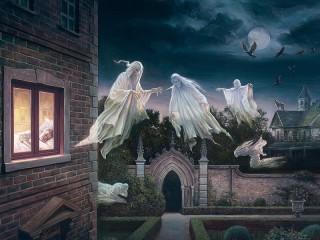 Собирать пазл Ночь призраков онлайн