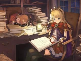 Собирать пазл Ночь в библиотеке онлайн