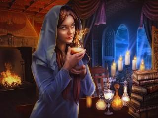 Собирать пазл Ночь-время магии онлайн