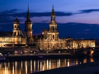 Собирать пазл Ночная Германия онлайн