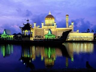 Собирать пазл Ночная мечеть онлайн
