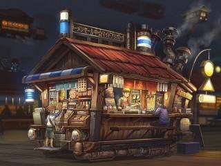Собирать пазл Ночное кафе онлайн