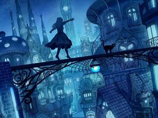 Собирать пазл Ночное путешествие онлайн