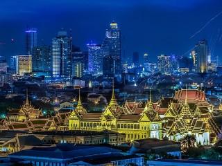 Собирать пазл Ночной Бангкок онлайн
