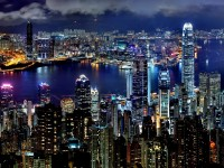 Собирать пазл Ночной Гонконг онлайн