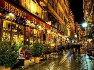 Собирать пазл Ночной Париж онлайн