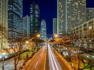 Собирать пазл Ночной Токио онлайн