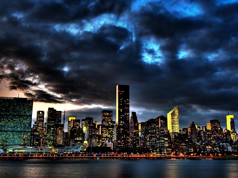 Пазл Собирать пазлы онлайн - Ночной город
