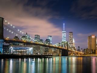 Собирать пазл Ночной город онлайн