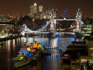 Собирать пазл Ночной Лондон онлайн