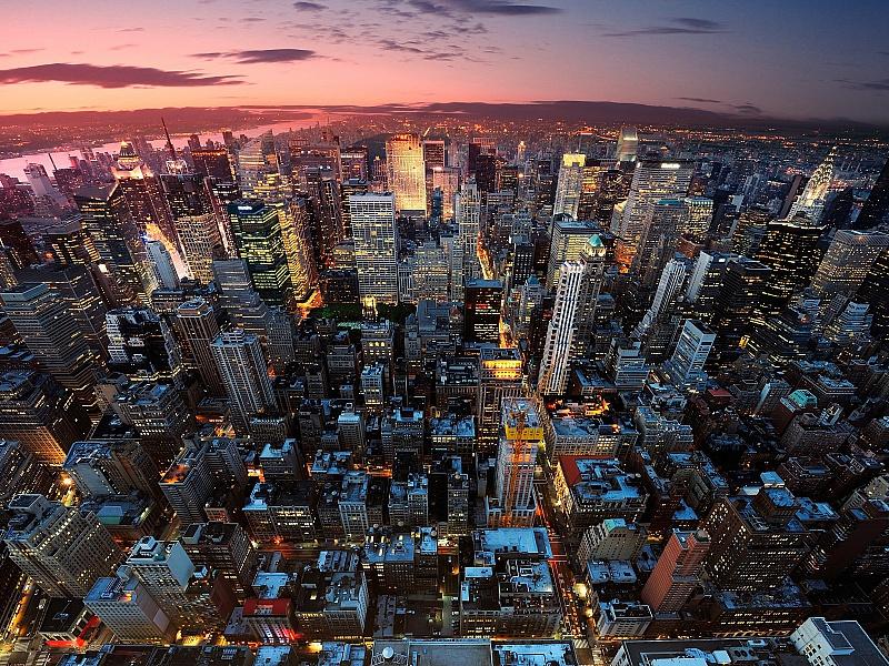 Пазл Собирать пазлы онлайн - Ночной Нью-Йорк