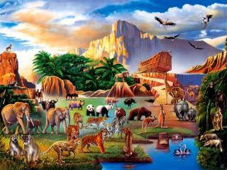 Собирать пазл Ноев ковчег онлайн