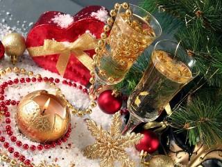 Собирать пазл Новый год вдвоем онлайн