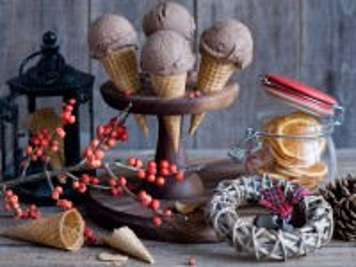 Собирать пазл Новогоднее мороженое онлайн