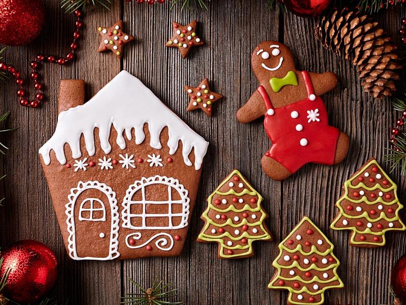 Пазл Собирать пазлы онлайн - Новогоднее печенье