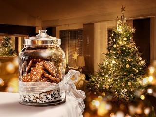 Собирать пазл Новогоднее печенье онлайн