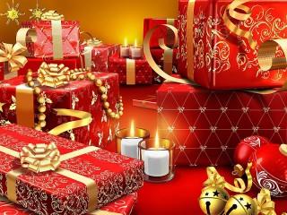 Собирать пазл Новогодние подарки онлайн