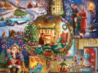 Собирать пазл Новогодние традиции онлайн