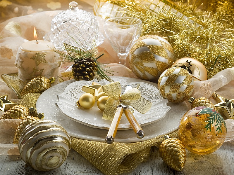 Пазл Собирать пазлы онлайн - Новогодние украшения