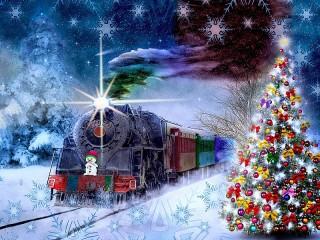 Собирать пазл Новогодний экспресс онлайн