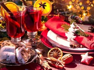 Собирать пазл Новогодний глинтвейн онлайн