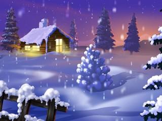 Собирать пазл Новогодний снег онлайн