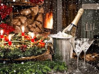 Собирать пазл Новогодний вечер онлайн