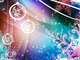 Собирать пазл Новогодний фрактал онлайн