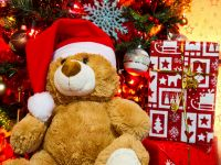 Собирать пазл Новогодний мишка онлайн