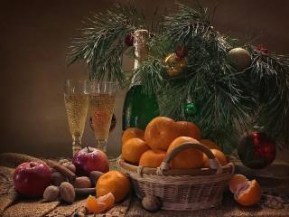 Собирать пазл Новогодний натюрморт онлайн