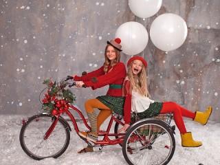 Собирать пазл Новогодний велосипед онлайн