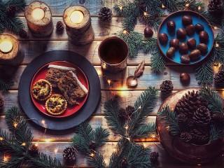 Собирать пазл Новогодняя выпечка онлайн