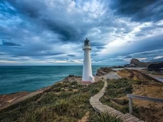 Собирать пазл Новозеландский маяк онлайн