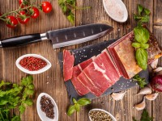 Собирать пазл Нож и мясо онлайн